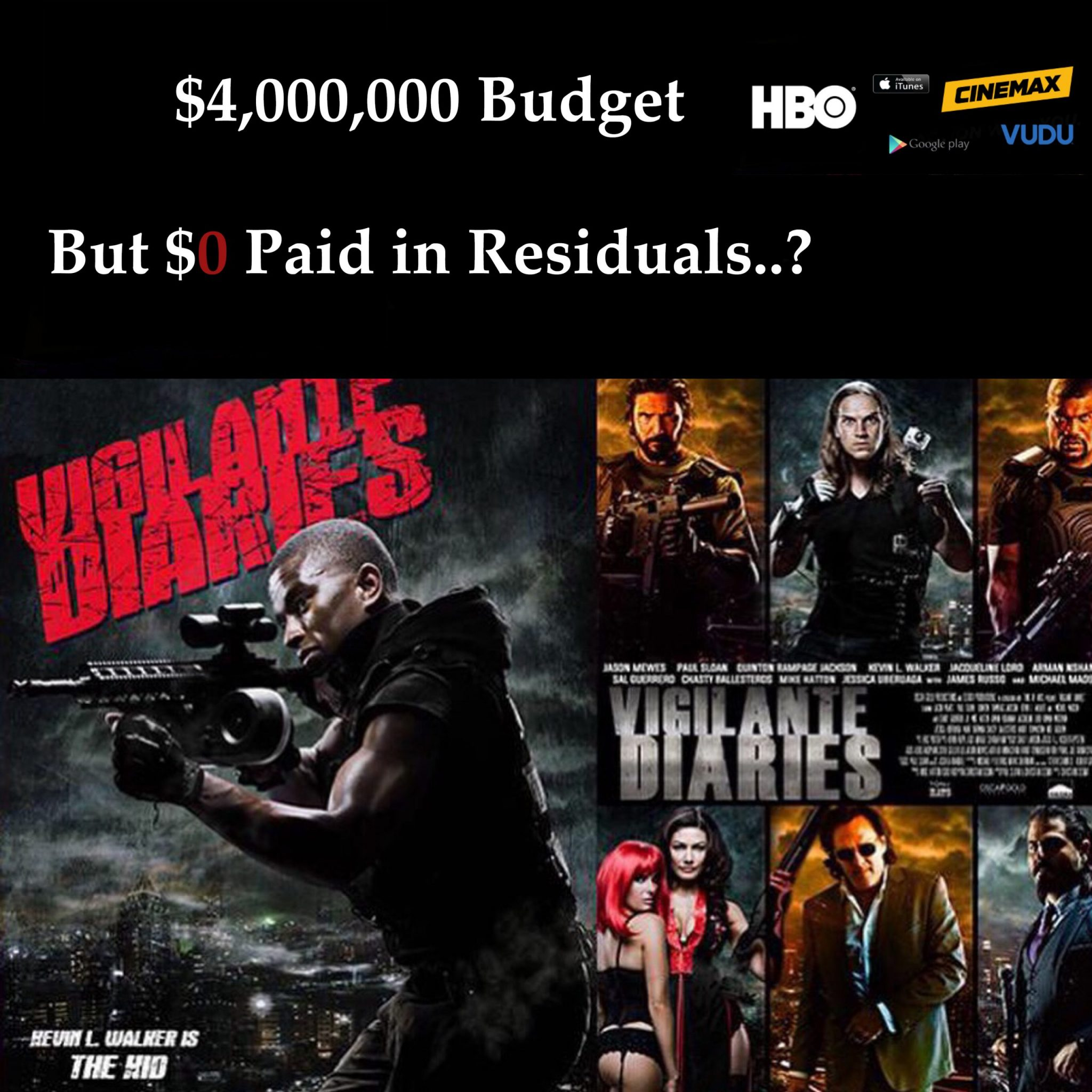 Vigilante Diaries - Producers dont pay Cast & Crew
