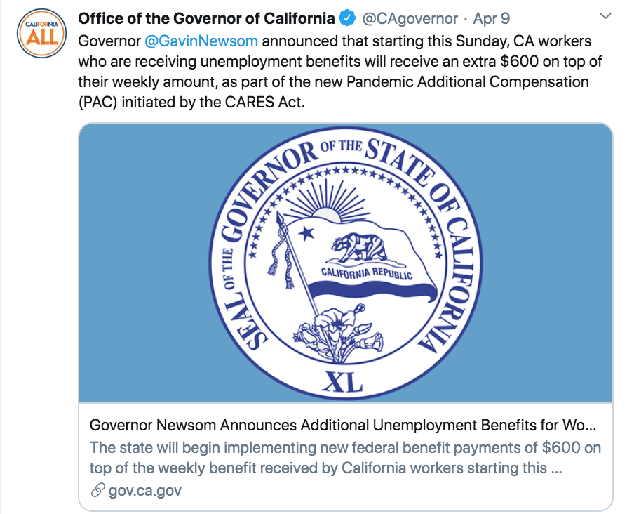 Gavin Newsom States Californian's Will Begin Receiving $600 Payments Starting Sunday 04:12