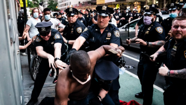 New York Police Intentionally Cover Their Badge Numbers and Abuse Citizens