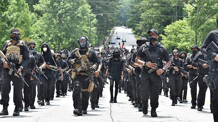 Legally Armed NFAC Black Citizens at Stone Mountain, Georgia to Protect Citizens