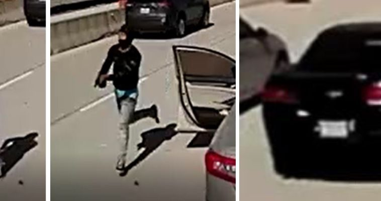 Dallas police release images of gunman in fatal shooting of rapper MO3 on Interstate 35E