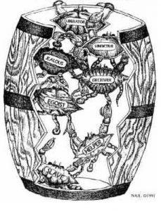 crabs in a barrel image